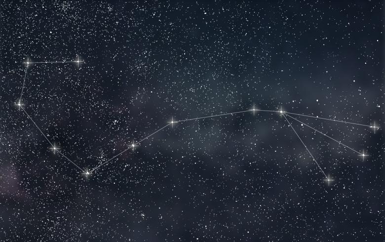 Scorpio Constellation. Zodiac Sign Scorpio constellation lines